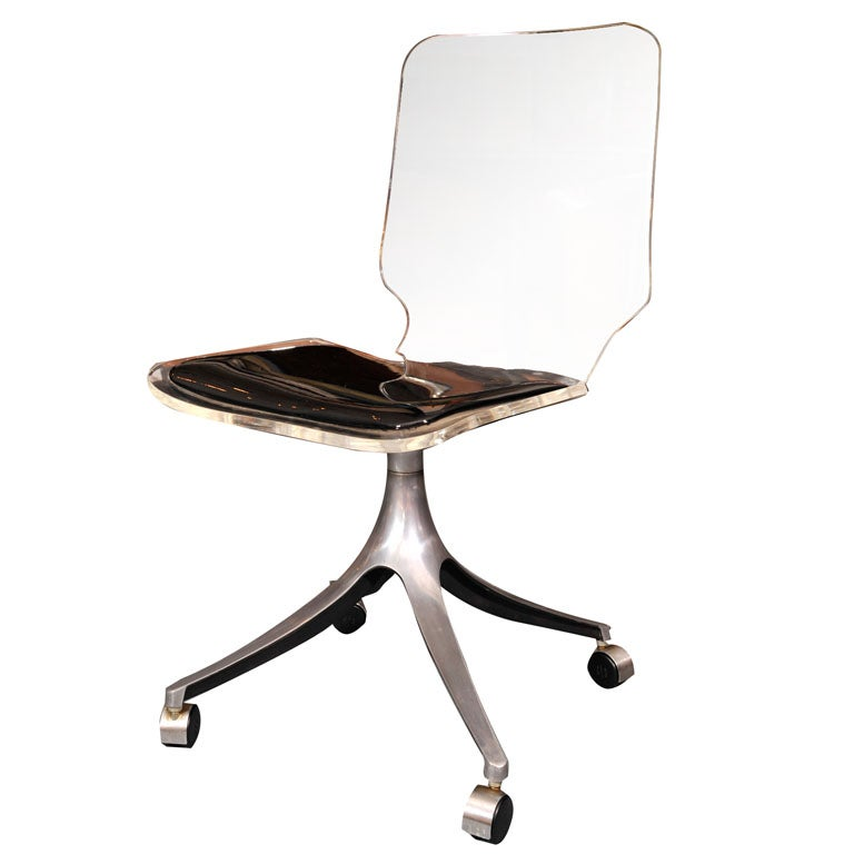 lucite rolling chair at 1stdibs