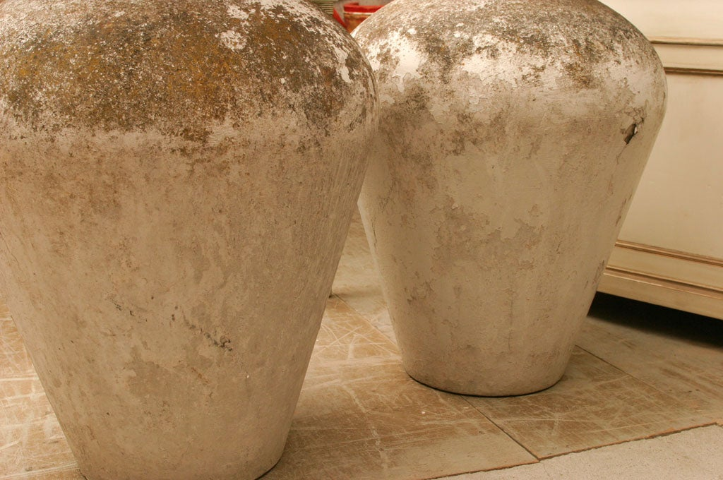 19th Century Pair of Oversize French Urns For Sale