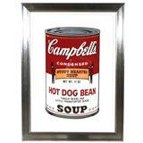 Andy Warhol - Campbell's Soup Hot Dog Bean, Original Screenprint
