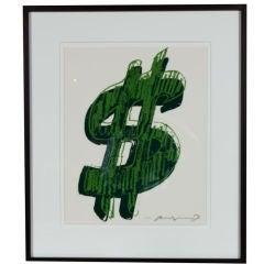 Andy Warhol - $(1)  Dollar Sign - Unique Trial Proof Screenprint