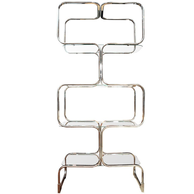 etagere chrome 1960 for sale at 1stdibs. Black Bedroom Furniture Sets. Home Design Ideas