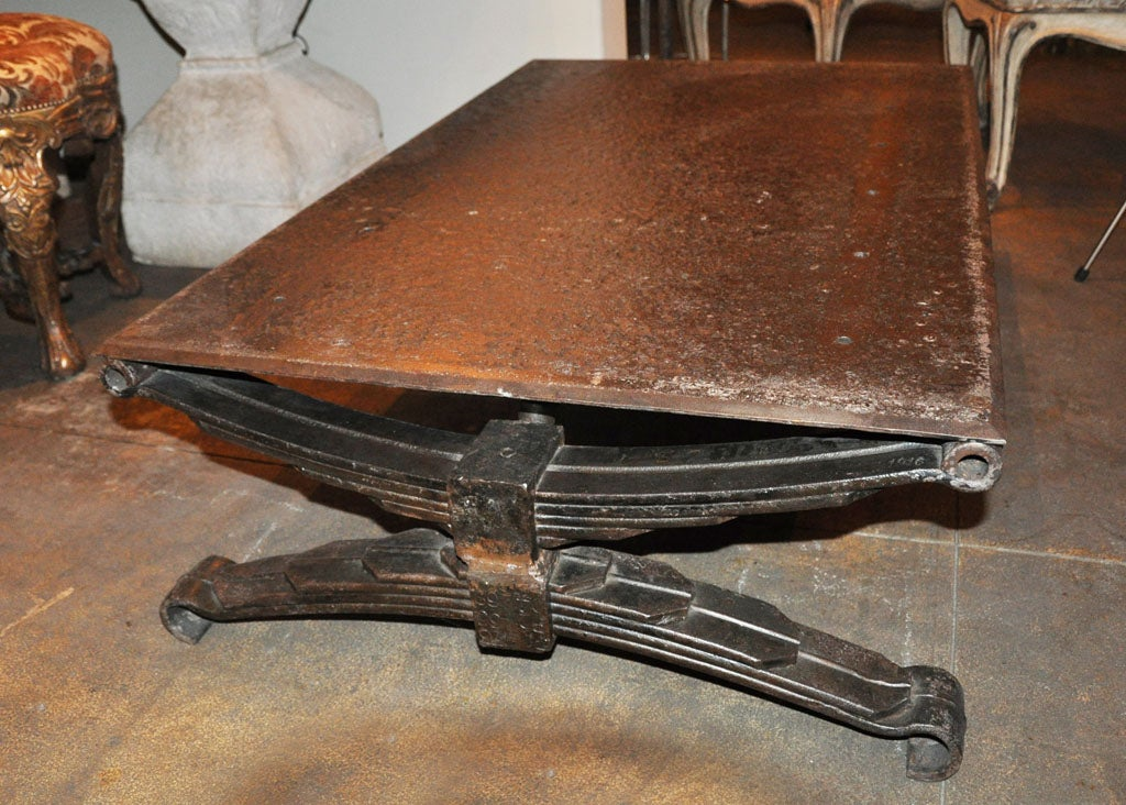 Circa 1900s French Iron Industrial Coffee Table At 1stdibs