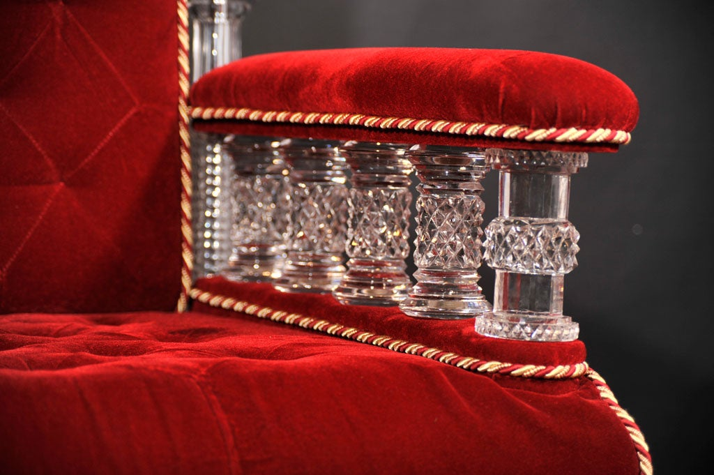 Cut Crystal Arm Chair by Osler image 3