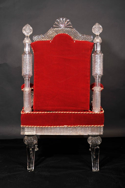 Cut Crystal Arm Chair by Osler image 8