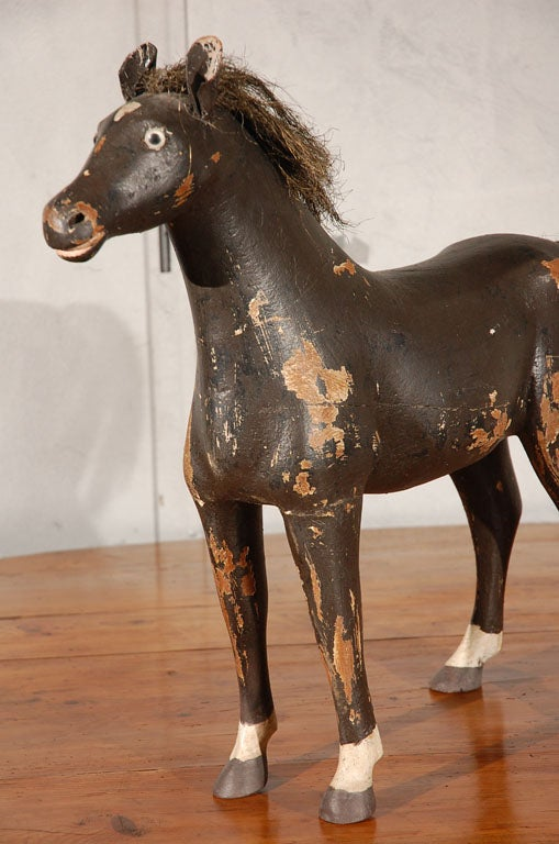 Folk Art Horse Figure At 1stdibs