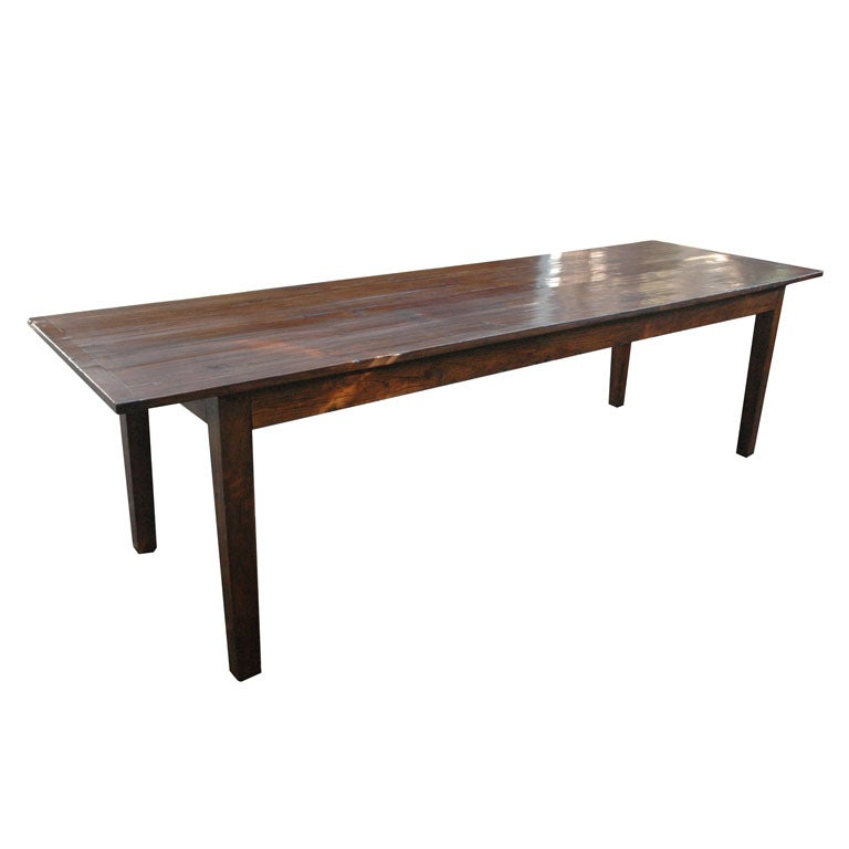 9 foot 3 inch long english farmhouse dining table at 1stdibs