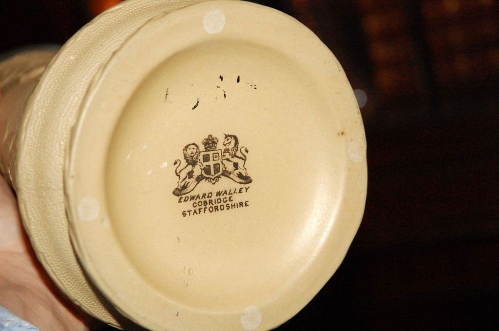 Staffordshire Pitcher Signed by Edward Walley Cobridge, circa 1850 For Sale 4