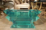 C. 1970 Lucite Glass Bench/Coffee Table image 3
