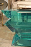 C. 1970 Lucite Glass Bench/Coffee Table image 4