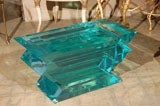 C. 1970 Lucite Glass Bench/Coffee Table image 5