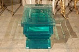 C. 1970 Lucite Glass Bench/Coffee Table image 6