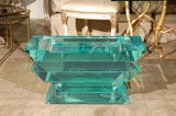 C. 1970 Lucite Glass Bench/Coffee Table image 2