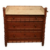 Victorian faux-bamboo marble topped wash stand