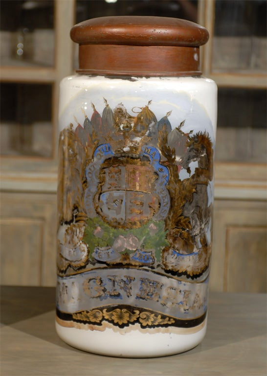 English A Pair Of Extra Large Apothecary Jars For
