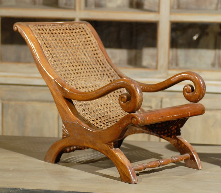 Indian Pair of 19th Century British Colonial Child's Chairs For Sale