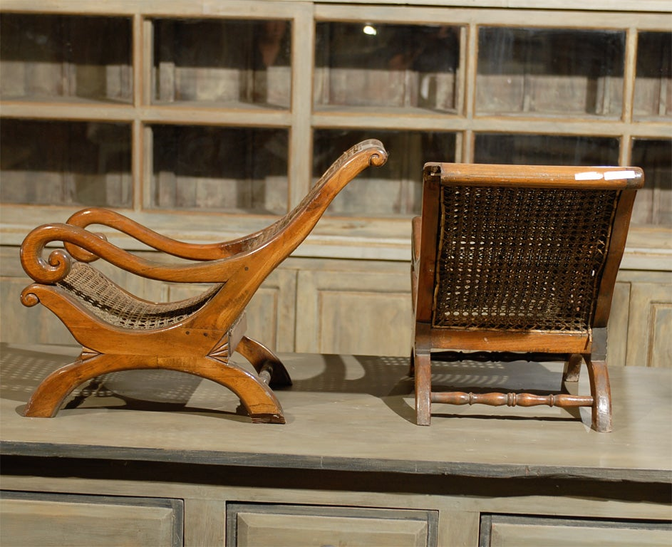 Pair of 19th Century British Colonial Child's Chairs For Sale 1