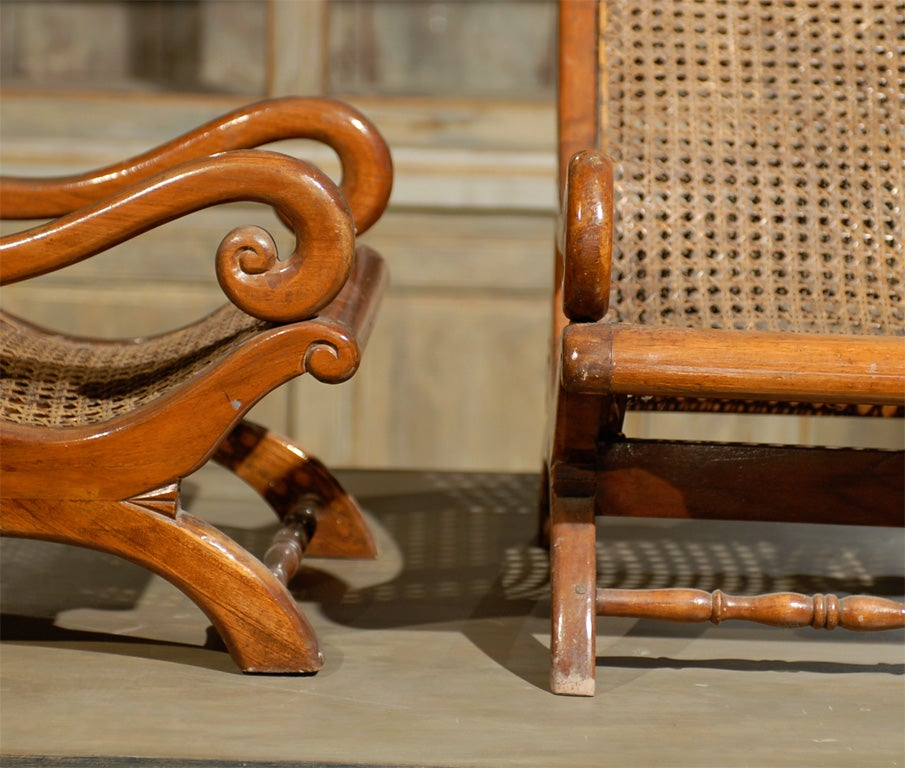 Pair of 19th Century British Colonial Child's Chairs For Sale 3