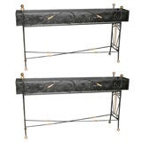 Pair of Wrought Iron Planters attrib to Maison Jansen