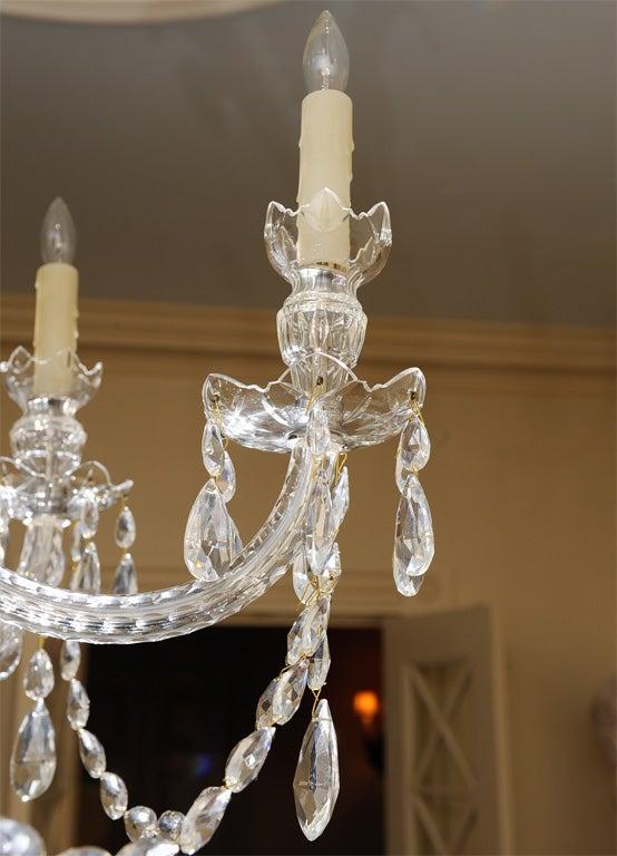 Georgian Style Cut Glass Chandelier At 1stdibs