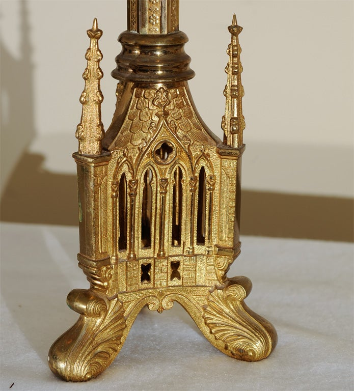 Gothic Style Lamp At 1stdibs