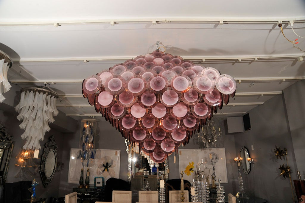 Large Purple Disc Chandelier 2