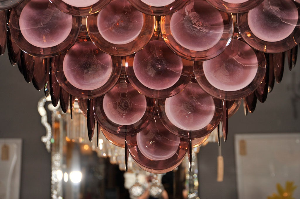 Large Purple Disc Chandelier 3