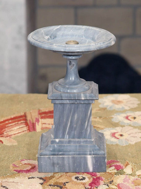 French PAIR OF FRENCH ST ANNE GRAY MARBLE TAZZA For Sale