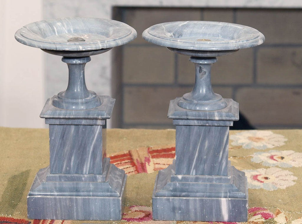 French st. anne gray marble tazza, probably clock garniture.