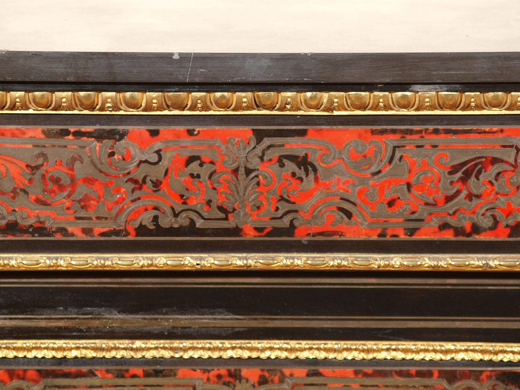 FRENCH NAPOLEON III BOULLE MUSIC CABINET 2