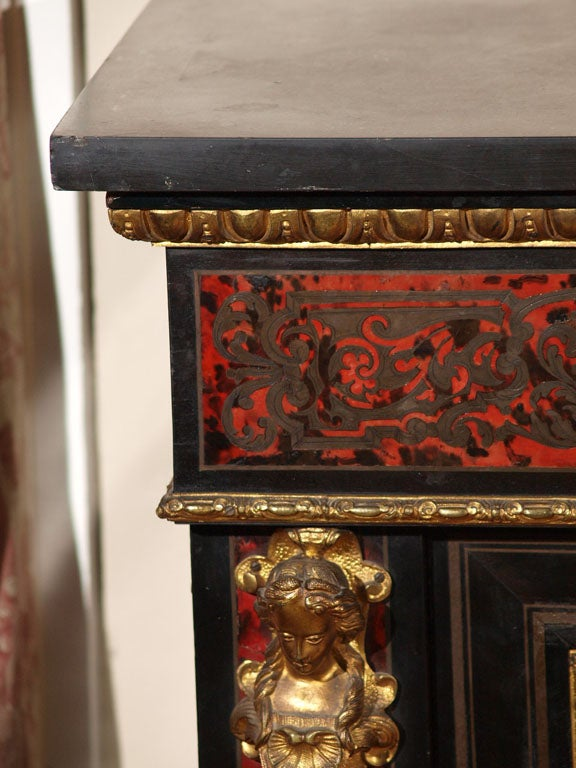 FRENCH NAPOLEON III BOULLE MUSIC CABINET 3
