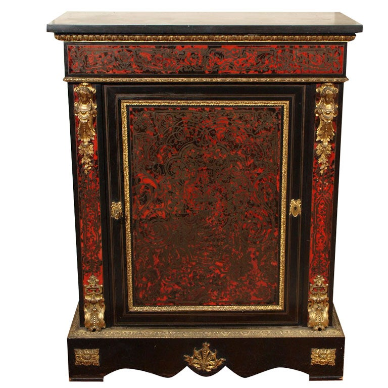 FRENCH NAPOLEON III BOULLE MUSIC CABINET For Sale