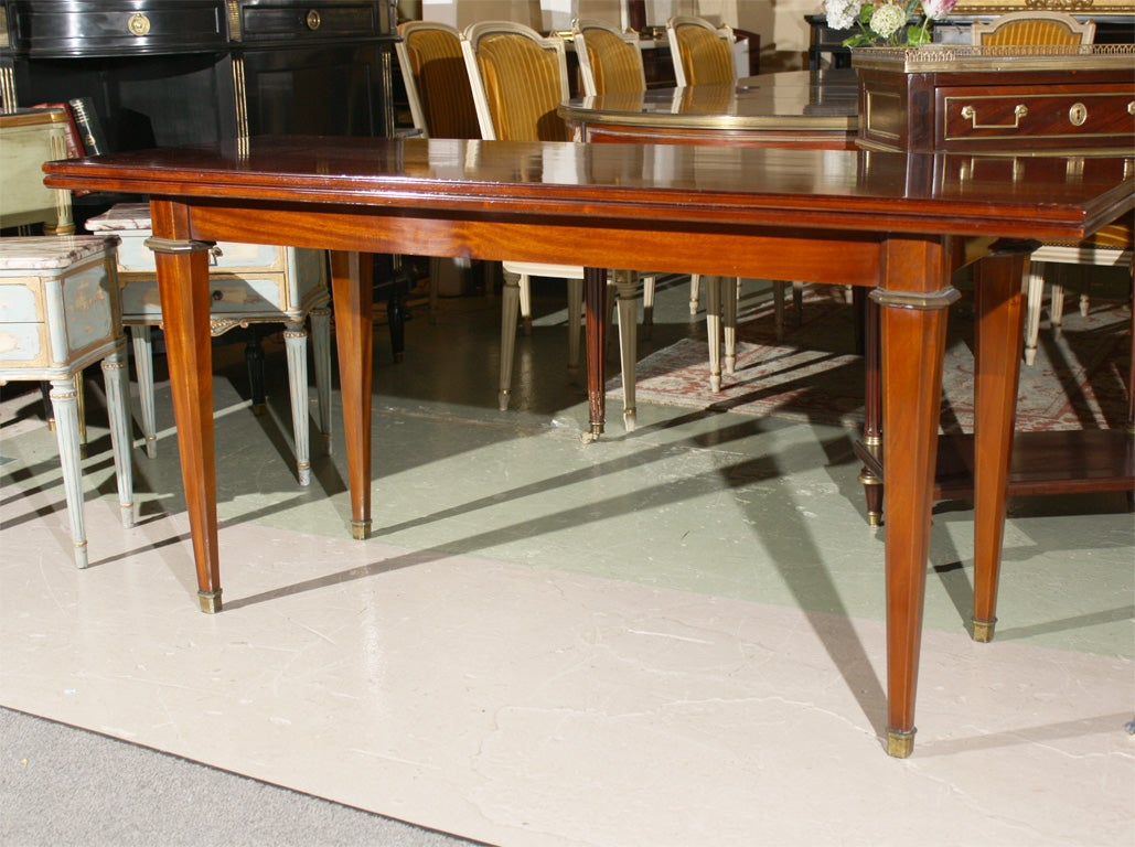 Mahogany flip top console table stamped jansen at 1stdibs mahogany flip top console table stamped jansen 3 geotapseo Image collections