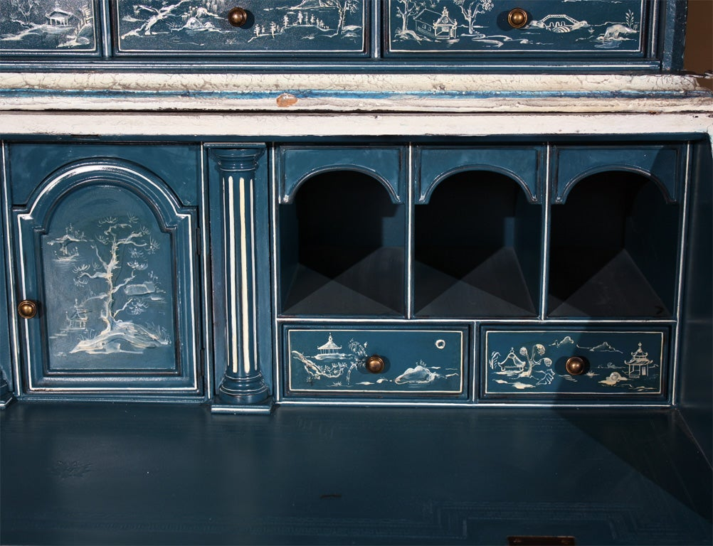 Painted Chinoiserie Style Secretary For Sale 1