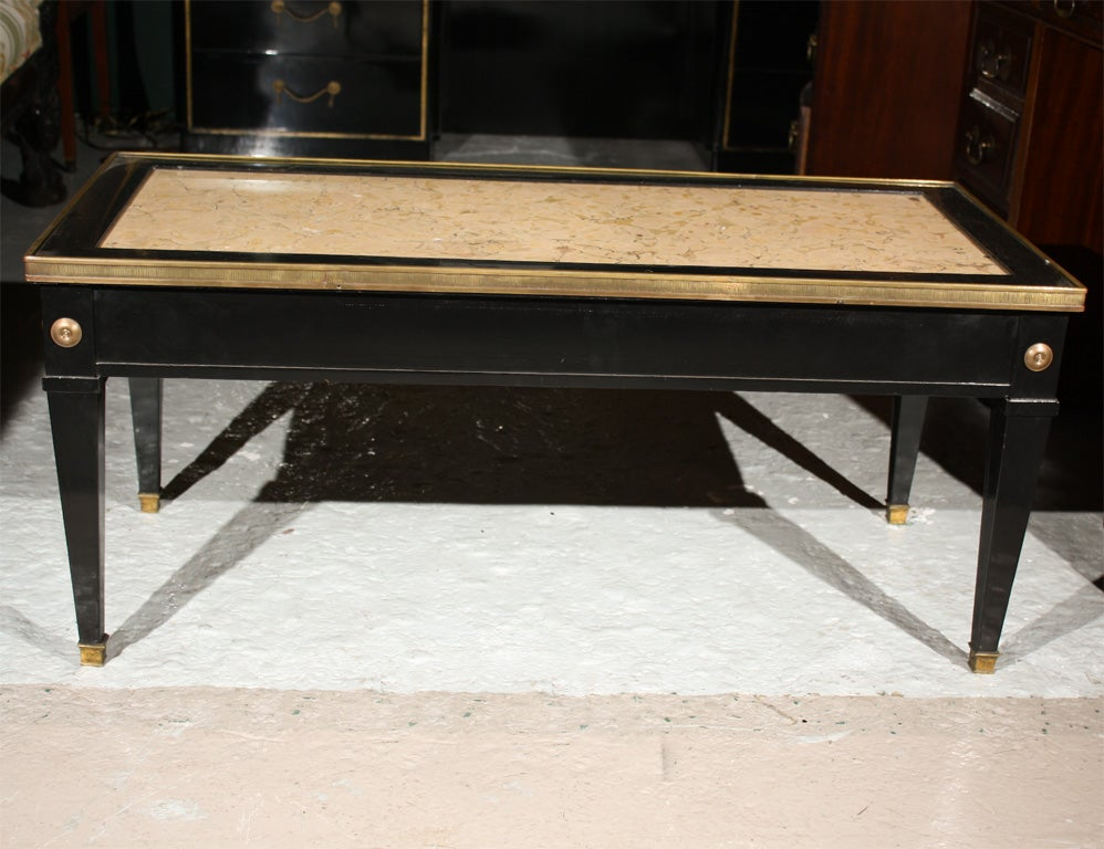 Maison Jansen Marble Top Coffee Table At 1stdibs