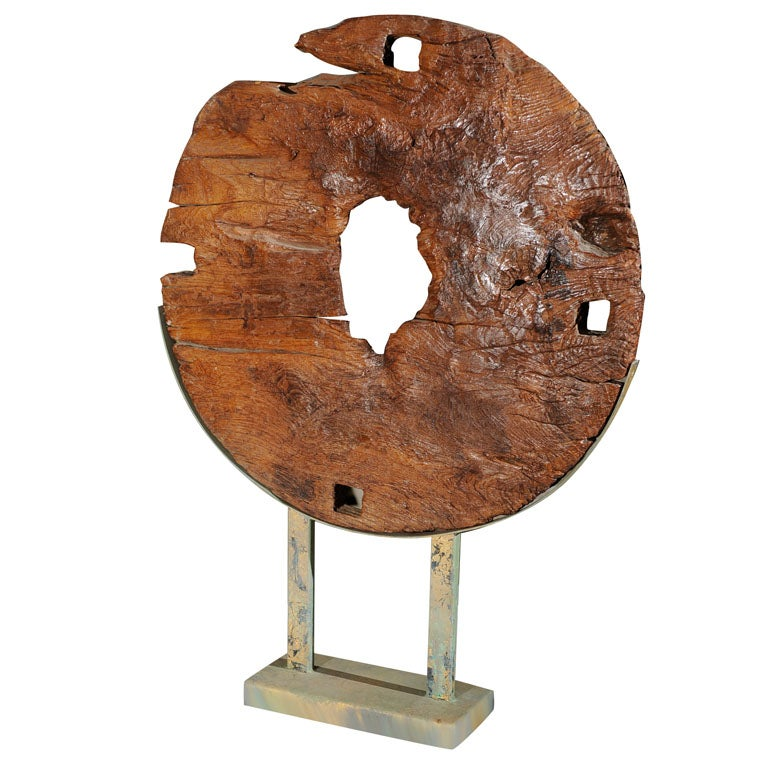 19th c  indonesian ox cart wheel  mounted at 1stdibs