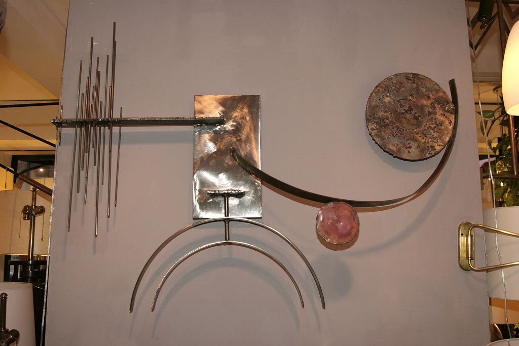 Silas Seandel Mid-Century Modern Abstract Wall Sculpture 2
