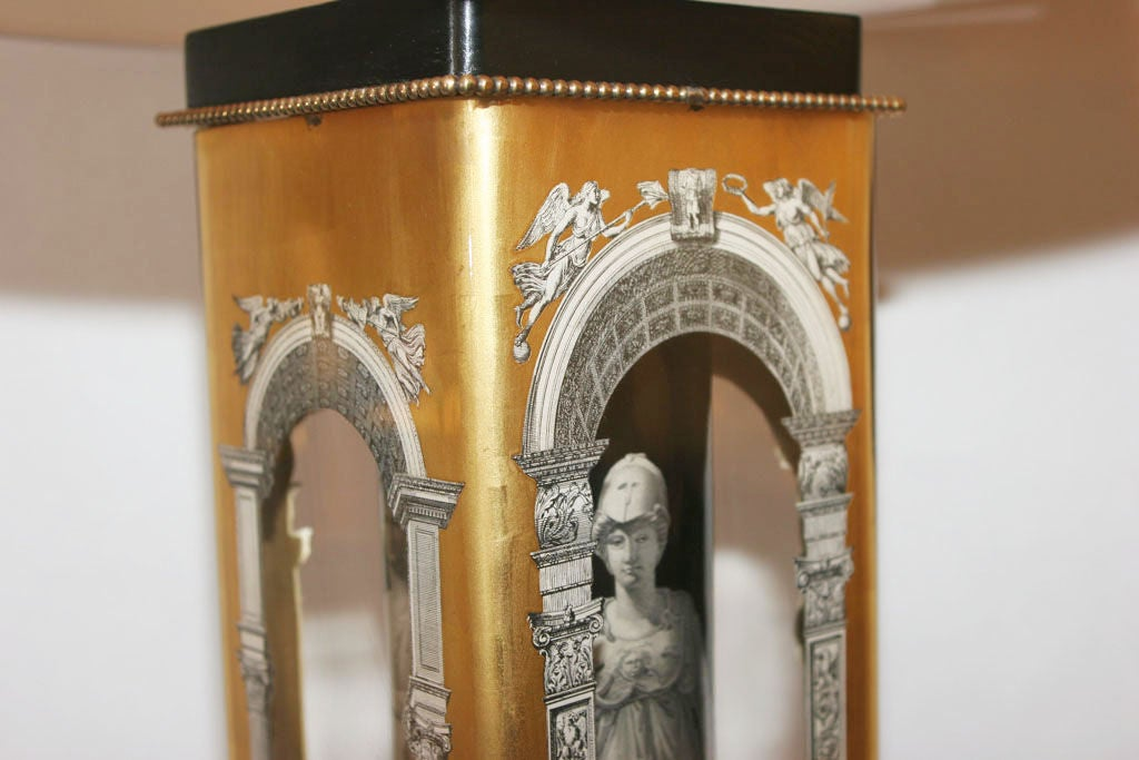 Mid-20th Century Pair of Classical Modern Lamps, Attributed to Fornasetti For Sale