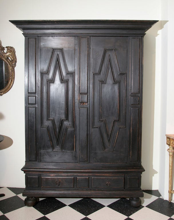 Swedish Baroque Cabinet In Good Condition In New York, NY