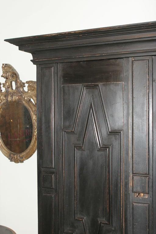 Wood Swedish Baroque Cabinet