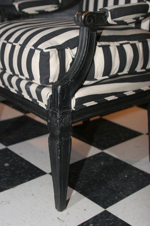 19th Century Armchair Swedish Gustavian 19th century Sweden For Sale