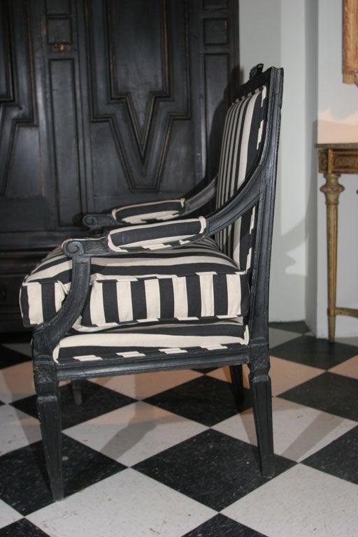Wood Armchair Swedish Gustavian 19th century Sweden For Sale