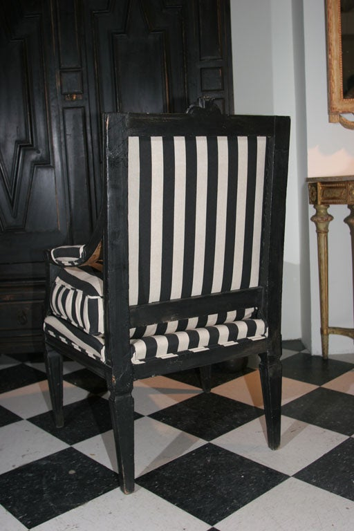 Armchair Swedish Gustavian 19th century Sweden For Sale 1