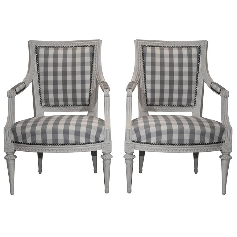 Pair Of Armchairs Gustavian Period Sweden At 1stdibs