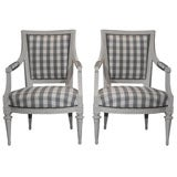 Swedish Gustavian Armchairs