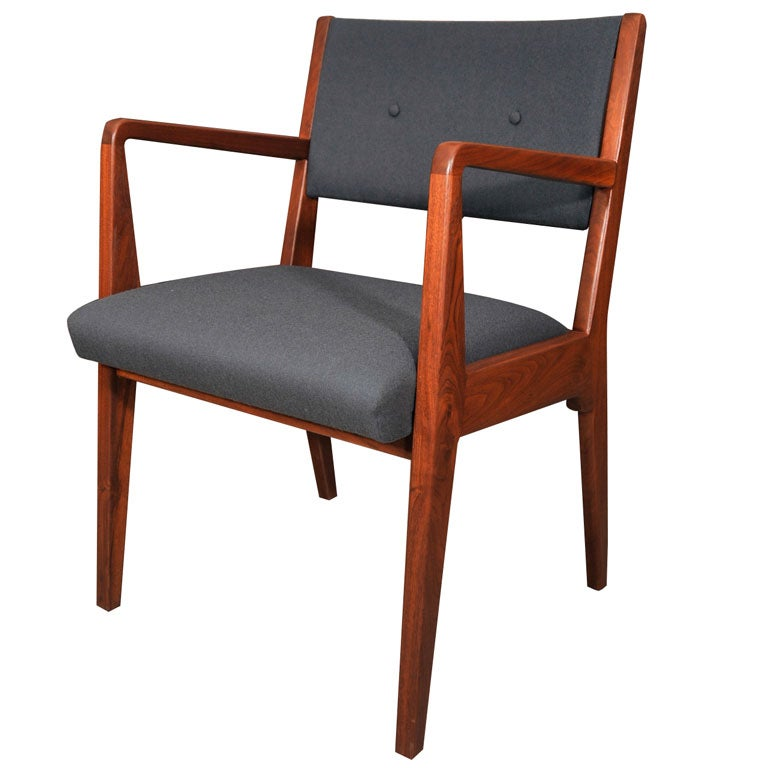 Set of 8 jens risom dining chairs on solid walnut frames at 1stdibs - Jens risom dining chairs ...