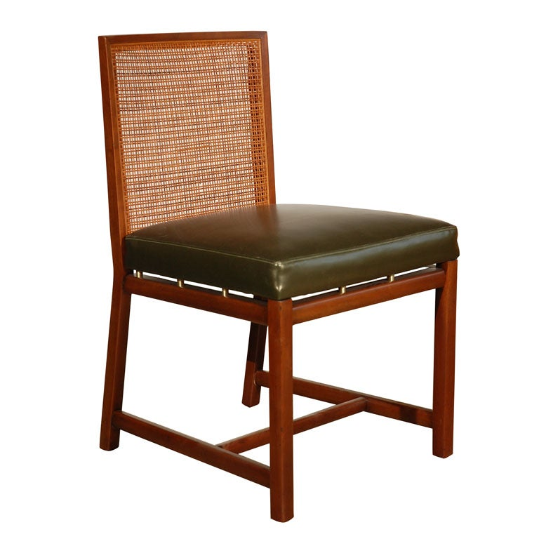 Set Of Eight Armless Cane Backed Vintage Dining Chairs At 1stdibs