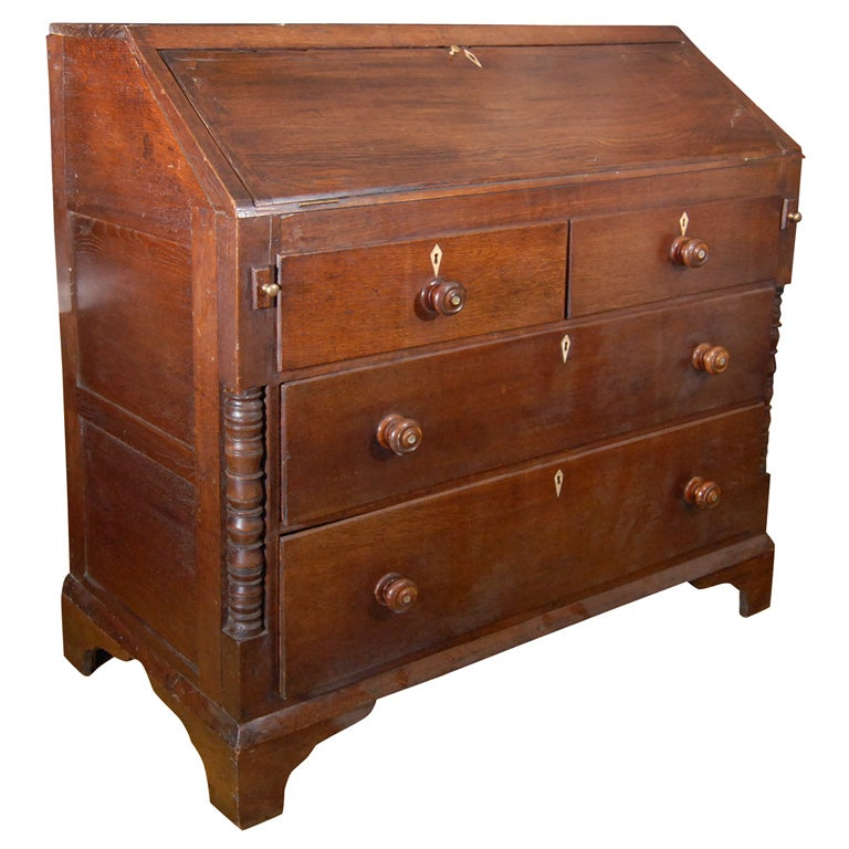Antique European Oak Secretary Desk At 1stdibs