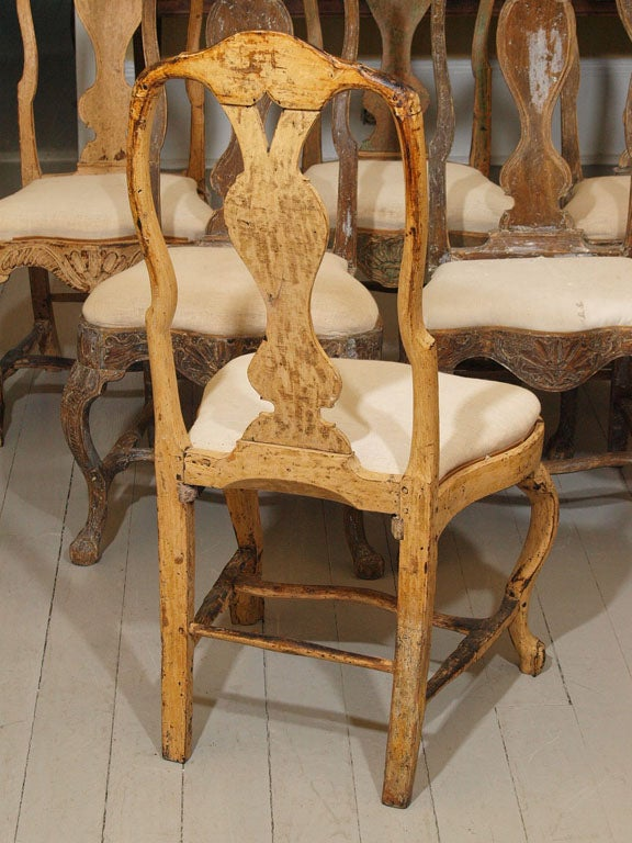 Six baroque dining chairs at 1stdibs for Baroque dining furniture