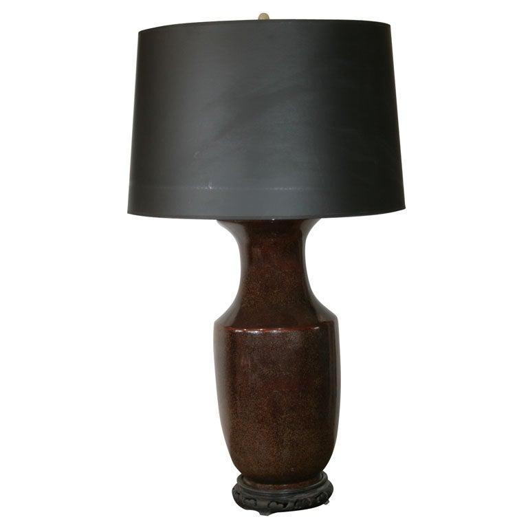 Tea Dust Glazed Lamp At 1stdibs