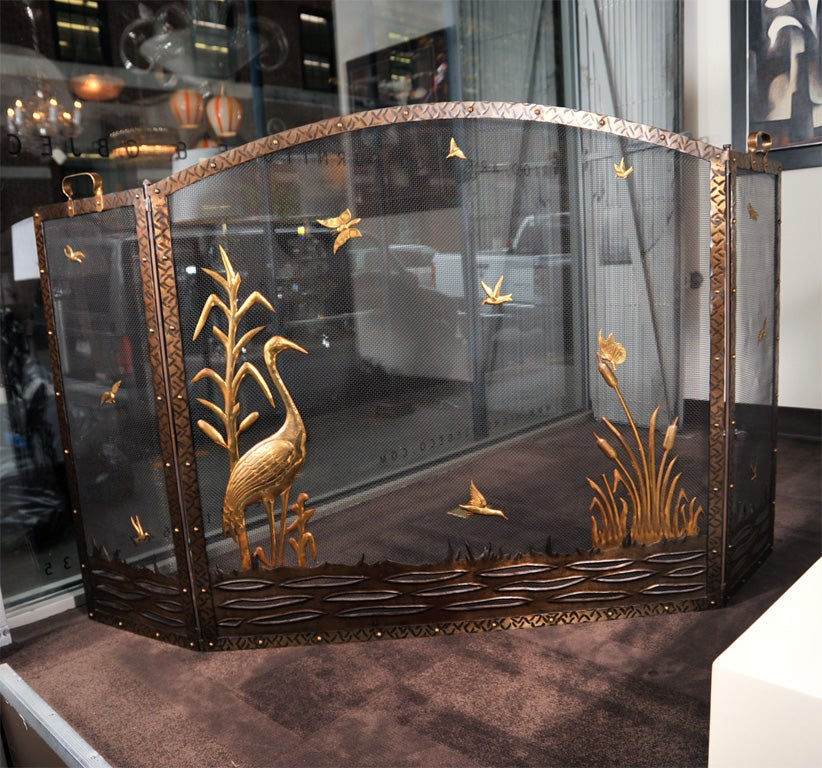 French Art Deco Fire Screen At 1stdibs